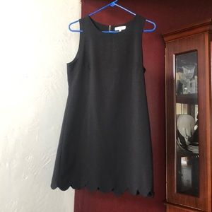 Black dress - perfect for a teacher!